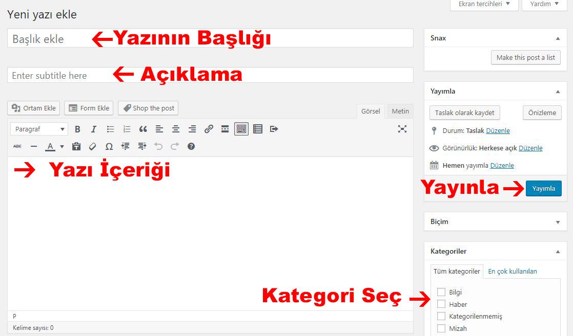 yeni-yazi-ekle-wordpress-2019